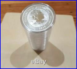 2019 Perth Mint Double Dragon Silver Bullion Mint Sealed Roll 20x 1oz Coins