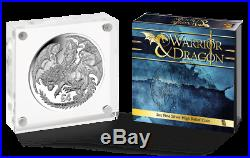 2019 Warrior Queen & Dragon 2 oz Proof High Relief Silver Coin only 650 Minted