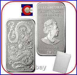 2020 Australia 1 oz Silver Dragon Bar 20 Australian Coins in Mint Tube/Roll