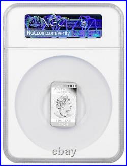 2020 Australia 1 oz Silver Proof Dragon Rectangular $1 Coin NGC PF70 UC FR Opera