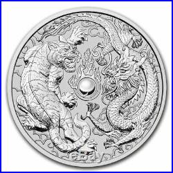 2020 Australia 10 oz Silver Dragon & Tiger BU SKU#209963