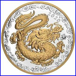 2020 Canada 1/2 Kilogram Lucky Dragon Gold Plated Silver Proof Coin