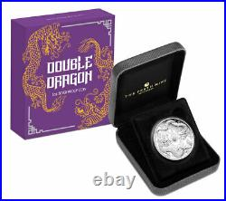 2020 Double Dragon 1oz Silver Proof Coin by Australia Perth Mint