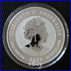2020 Dragon & Tiger 10 oz Silver Coin