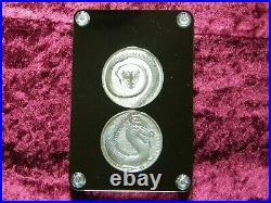 2020 Germania Beasts Fafnir 1 OZ Silver BU Dragon 2-Coin Set