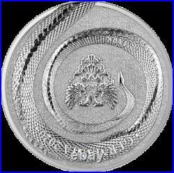 2020 Germania Beasts Fafnir Dragon 1oz Ultra High Relief Chameleon Silver Coin