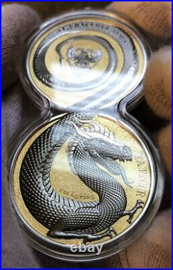 2020 Germania Beasts Geminus Fafnir Dragon 2 x 1 oz Silver Coin Set
