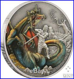 2020 Mythical Dragons The Norse Dragon 2oz Silver Coin Mintage of 2,000