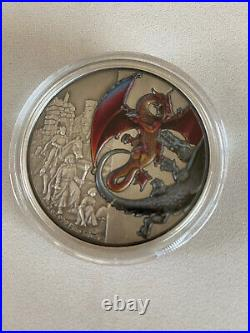 2020 Mythical Dragons The Red Dragon 2oz Silver Coin Mintage 201 of 2,000