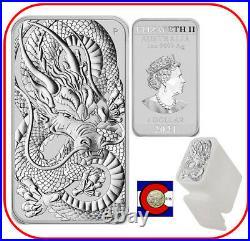 2021 Australia 1 oz Silver Dragon Bar 20 Australian Coins in Mint Tube/Roll