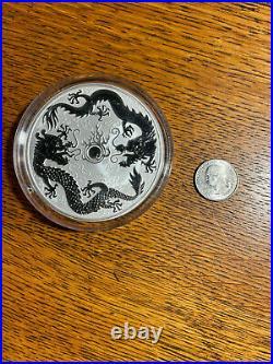 2021 Australia 10 oz Silver Double Dragon BU 1 of 888 Minted