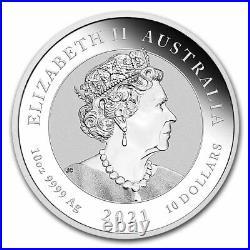2021 Australia 10 oz Silver Double Dragon BU SKU#228276