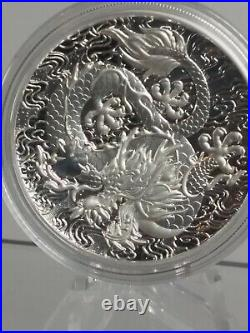 2021 Australia Myths & Legends Dragon 2 oz Silver HIGH RELIEF PROOF ONLY 1K MINT