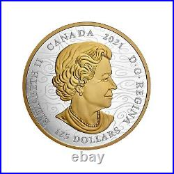 2021 Canada $125 Triumphant Dragon 500g (1/2 Kilo). 9999 Silver Coin NGC PF 70