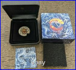 2021 Tuvalu $2 Double Dragon Yin Yang Koi 2 oz 9999 Silver Coin -Mintage 888