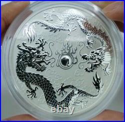 2021 australia 10 oz silver double dragon coin BU