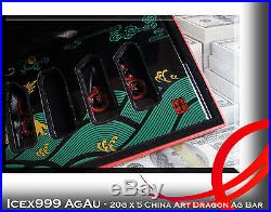 20g x 5 ASIA Coloured Dragon Art Silver Bar by Baoquan Coin Investment Super COA