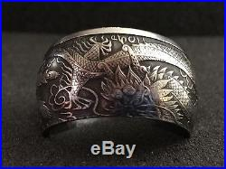 24K Pure Silver Coin Ring 9999 Silver Dragon & Phoenix 2017 Sizes 5-15