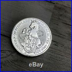 2oz Silver Queens Beast Coin Lot Of 8 The Full Set! Griffin Dragon Lion Bull &