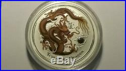 5 Australia Lunar Year Coins Lot. Year Of The Tiger, Dragon, Rat And 2 Ox