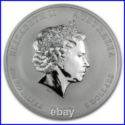 5 oz 2012 Perth Lunar DRAGON Silver Coin