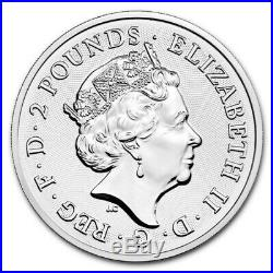 5 x 1 oz British Royal Mint 2 Dragon coin 2018.999 silver bullion coin