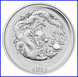 5oz 2012 Australia Lunar Series II Year of the Dragon Silver Bullion Coin