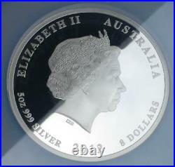 5oz. 999 Fine Silver Australian 2012 Year of the Dragon $8, NGC PF70 Ultra Cameo