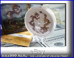 5oz Australian PM 2012 Dragons of Legend Special Edition Silver Coin Signed