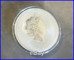 5oz Rare Silver Coin Perth Mint Year of Dragon 2012