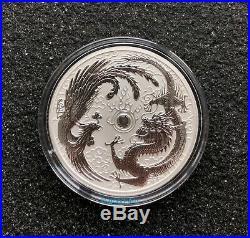 AUSTRALIA PHOENIX & DRAGON 10 oz silver coin 2019 RARE only mintage 888 pcs