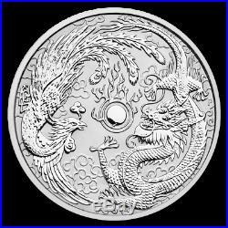 AUSTRALIE 10 Dollars Argent 10 Onces Dragon et Phoenix 2019