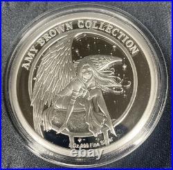 Amy Brown Dragon Secret 5 Oz Silver Round. 999 Bullion Coin In Capsule & COA