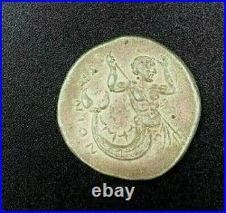 Ancient Greece Sterling silver King Triton merman mermaid Double Dragon Coin