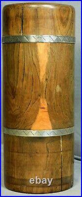 Antique 1760 Lignum Vitae Coin Silver Surgeon's Case Box French Armorial Dragon