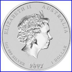 Australia $1 Coloured Colourised Dragon 2012 1 oz. 999 Silver Coin (Set of 9)