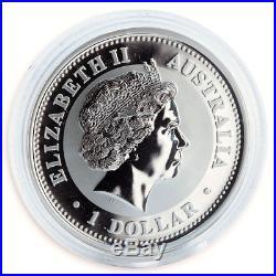 Australia, 1 Dollar, Lunar Year of the Dragon silver gilded coin 1oz 2000
