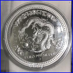 Australia 2000 $30 Year of the Dragon 1KG 999 Silver Lunar Coin limited edition