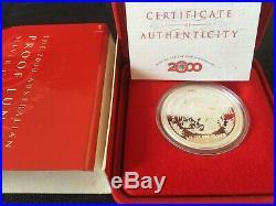 Australia 2000 Year of Dragon 1/2oz Silver Proof Coin Perth Mint Lunar Series I