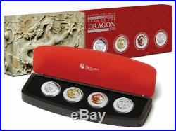Australia Lunar Silver Coin Series II 2012 Year of the Dragon Typeset Collection