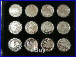 Australia Lunar Year Collection 12 2 oz Silver Proof Coins Tiger Dragon Ox Mouse