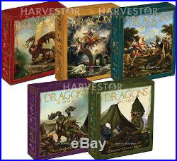 Australian Dragons Of Legend Complete 5-coin Series All Ogp And Coa New