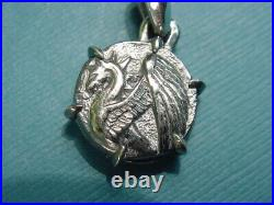 Authentic David Yurman Sterling Silver 925 Petrvs Dragon Coin Amulet Pendant