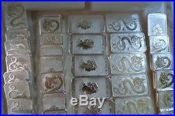 BULK BULLION 40 ounces 1oz 9999 silver bullion bars Aus Dragon 1 ounce coin bars