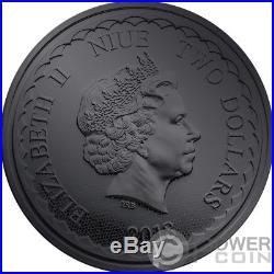 BURNING DOUBLE DRAGON 1 Oz Silver Coin 2$ Niue 2018