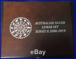Boxed 5 coin Set 2012 Perth Mint Lunar Series II Dragon 10oz 5oz 2oz 1oz 1/2oz