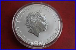 Brilliant Australia Perth Mint Lunar II 2012 Dragon 5 Oz. 999 Pure Silver Coin