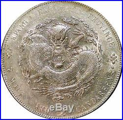 CHINA 1904 KIANGNAN SILVER DRAGON DOLLAR Y#145a WITH DOTS FULL LUSTER COIN