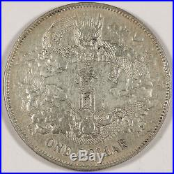 CHINA Empire 1911 Year 3 $1 Dollar Silver Dragon Coin L&M-37 Y-31 XF/AU Chopmark