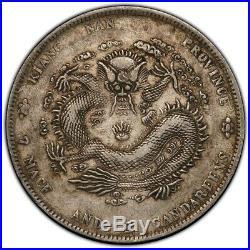 CHINA Kiangnan 1901 $1 Dollar Silver Dragon Coin PCGS XF L&M-244 Bold HAH Tail